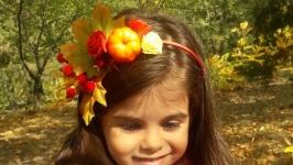 Осенний ободок с овощами