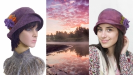 ′Дымка′ - шляпка - авторский войлок