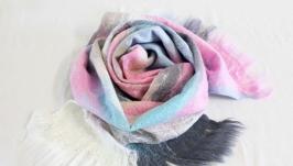 шарф ′Новый день′или ′Изморозь′ - авторский войлок