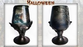 Готический кубок «Летучая мышь» Оригинальный подарок на Хэллоуин.