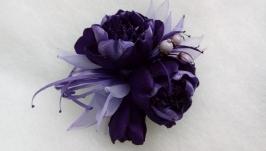 Брошь-цветок ′Фиолетовое настроение′