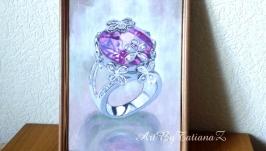 Картина ′Перстень′ акварель гуашь