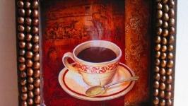 Дитпих ′Аромоксамит′, настенное панно с зернами кофе