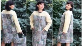пальто ′Пэчворк′ - авторский войлок