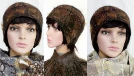 ′Шотландка′ -′ 3′ - шапочка - авторский войлок