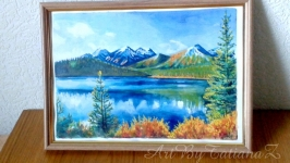 Картина ′Осенний пейзаж′ акварель гуашь на бумаге А4