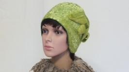 ′ Флора ′ шляпка - авторский войлок