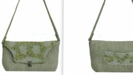 «Мох» - сумка - авторский войлок, нуновойлок