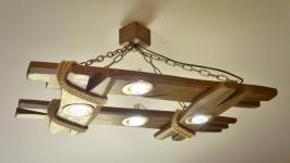 Люстра з натуральної деревини, дерев′яний світильник