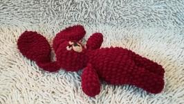 Плюшевая игрушка Свекольный Заяц - ручная работа