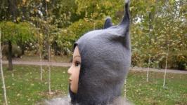 Валяная шапка ′Серый волк′