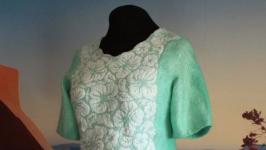 ′ Мятный аромат′ - блуза - авторский войлок, нуно войлок