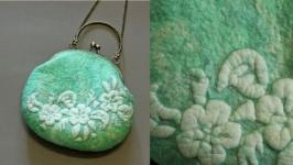 ′ Мятный аромат′ - сумочка - авторский войлок, нуно войлок