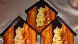 Настенная ключница ′Котята-непоседы′, вешалка в прихожую, детскую