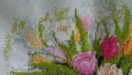 Вишита картина Акварельні тюльпани