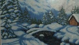 Вишита картина Зимові гори