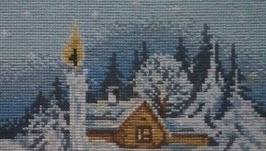 Вишита картина Різдвяна свічка