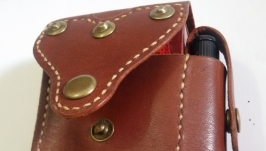 Leather bag for cigarettes and lighters