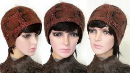 ′Шотландка′ -′1′ - шапочка - авторский войлок