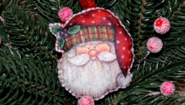 Ялинкові іграшки з фетру Дід Мороз′