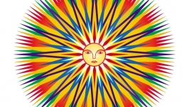 Мандала ′Знак солнца′. Цифровой файл.