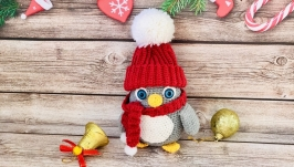 Пингвин, вязаная игрушка HAND MADE