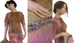 ′Дивный сон′ - платье - авторский войлок, нуновойлок