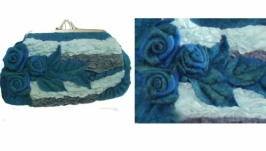 ′Морской бриз′ – авторская сумочка - войлок, нуно войлок