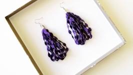 Кружевные фиолетовые листочки
