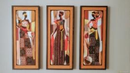Декоративное панно триптих ′ Африканки′