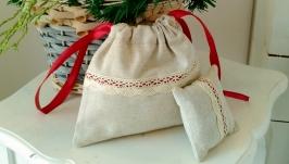 Текстильные мешочки, кармашки для столовых приборов, пеналы