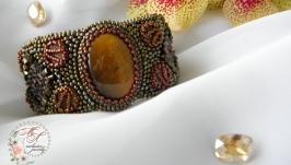 Браслет с пиритом и тигровым глазом ′Марокко′