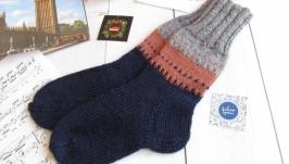 Шкарпетки ручної роботи, шерстяні, р 39-40