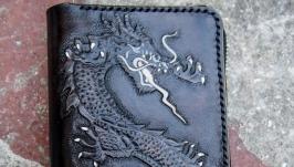 Кожаный кошелек Дракон
