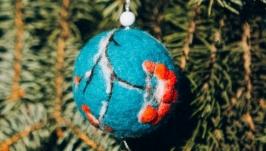 Шар новогодний ′Рябина в снегу′
