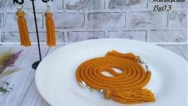 Набор ′Лариат  сережки′