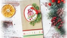 Открытка с вышивкой ′Новогодняя сова′