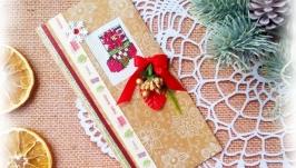 Открытка с вышивкой ′ Wishes′