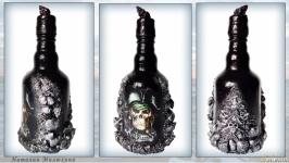 Декор бутылки для пиратской вечеринки  Сувениры морской тематики