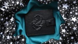 Кожаный кошелек ′СКОРПИОН′