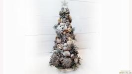 Новогодняя елка в эко-стиле из природных материалов Подарки на новый год