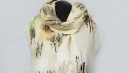 шарф ′Ноябрьские пейзажи′ - авторский войлок