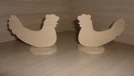 Заготовка деревянная - Курочка на подставке