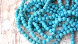 Бирюза 6мм бусины голубой натуральные камни