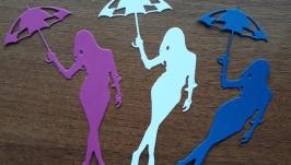 Вырубка девушка с зонтом, Высечка