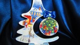 Новогодняя елочка Зимняя сказка, елка интерьерная,рождественская