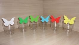 Украшение на бокалы, столовые приборы Бабочки