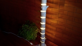 Торшер з дерева, дерев′яний світильник для підлоги, напольна лампа