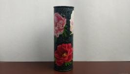 Ваза декоративна ручної роботи ′Прекрасні піони′