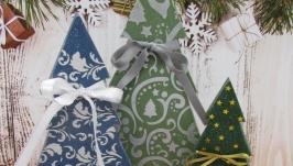 Набор интерьерных новогодних елочек.
